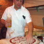 Mark Making A Pizza.