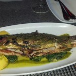 La Forchetta's whole Branzino.