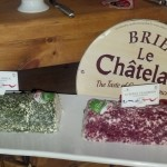Cheeses of France event: These flavored goat cheeses were very good.