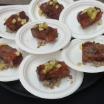 "Chef Lee Gregory of The Roosevelt: Smoked Leg of Lamb, SC Farro ""Dirty Rice"", Red Onion Marmalade, Green Tomato Relish."
