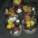 Muscat Grape Granita: Orange flower scented yogurt espuma, candied orange, lemon verbena.