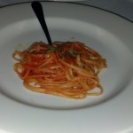 Pasta: Linguine with Eel Sauce.