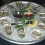 Oysters from the Raw Bar.