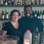 Executive Chef Marjorie Meek-Bradley and Bartender Frank Mills.