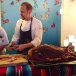 Chef with Roasted Pig.