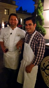 Chefs Rodney Scruggs (Occidental, DC) & Nemo Bolin (Cook & Brown Public House, Rhode Island) at the Lamb Jam VIP event at the Occidental.