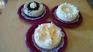Tracy's Cheesecakes: Oreo, Lime, Lemon