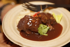 Short Ribe with Redwine sauce