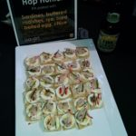 A strongly flavored (hoppy) beer with sardines & eggs! One of my favorite pairings of the evening.
