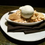 APPLE CRISP: Turbinado sugar, Moorenko's crème fraîche ice cream