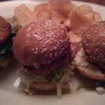3 Different Sliders: Crab Cake, Bison, Crispy Chicken
